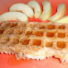 Dairy and Wheat Free Apple-Cinnamon Spelt Waffles Allrecipes.com - actual recipe! Have to try this for mom
