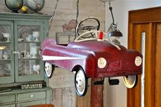 Pedal Car Chandelier - 17 Inspirational DIY Ideas to Enlighten Your Home With Upcycling Home Items