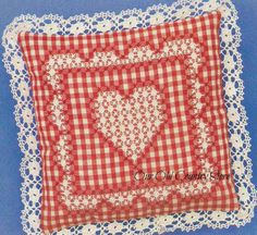 Our Old Country Store: Tie One On Day, Chicken Scratch Aprons, and a Free Patter. - Our Old Country Store: Tie One On Day, Chicken Scratch Aprons, and a Free Patter… Our Old Count - Embroidery Hearts, Embroidery Patterns Free, Cross Stitch Embroidery, Cross Stitch Patterns, Embroidery Designs, Hand Embroidery, Pillow Embroidery, Chicken Scratch Patterns, Chicken Scratch Embroidery