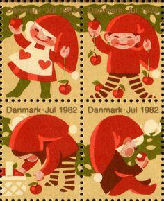 Denmark 1982 Christmas seals Danish Christmas, Christmas Music, Scandinavian Christmas, Christmas Time, Christmas Tables, Modern Christmas, Postage Stamp Design, Postage Stamps, Rare Stamps