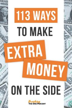 Learning how to make extra money on the side can make a world of difference when it comes to breaking the paycheck to paycheck cycle. If you're looking for ways to pay off debt, save for a vacation, or merely need some extra spending money, check out this EPIC list of 113 easy ways to make money from home and online. This list is full of great side hustle ideas for moms, college students, teens, and kids alike to start making more money fast! |Make Extra Money| More Money