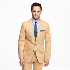 Boo Boo's Suit  Ludlow two-button suit jacket with center vent in Italian chino