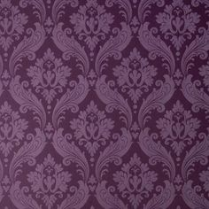 Graham & Brown 56 sq. ft. Vintage Flock in Purple Wallpaper-30-382 at The Home Depot
