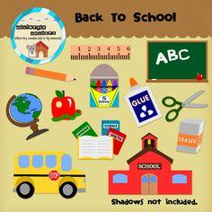 Back T School Clipart! #clipart #school #worksheets