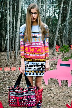 Blue Tribe dress by QooQooFashion on Etsy, $110.00