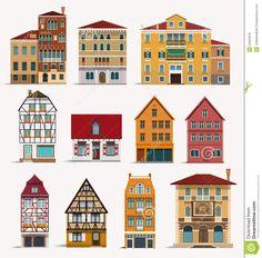 clipart vector european house - Buscar con Google