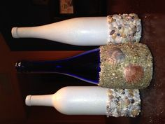 Wine bottle decor, this is adorable, not sure I'm crafty enough to ever pull it off though!
