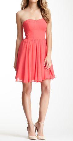 Coral sweetheart dress