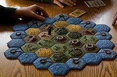 home made Settlers of Catan tiles