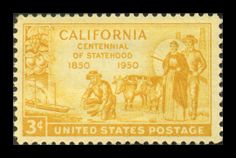 California Centennial Statehood Postage Stamp