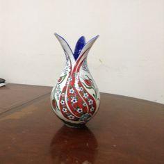 Turkish Art, Turkish Tiles, Play Clay, Tile Art, Pottery Vase, Vases Decor, Paint Designs, Islamic Art, Tea Pots