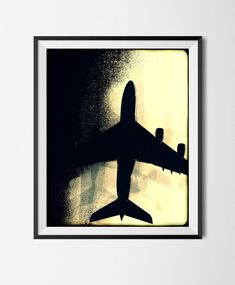 Download Printable Art,Photographic Poster,Grunge, Stains,Noise, Grain,Digital Vintage File,Airplane, Plane, Flight, Air,Travel,Silhouette, by STRNART on Etsy