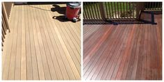 Stripped Mahogany deck finished with AC oil mix. Deck Finishes, Mahogany Decking, Hardwood Floors, Flooring, Oil Mix, Types Of Wood, Decks, Restoration, Outdoor Decor