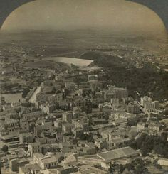 1907. Athens, view to Stadium from Lycabettus hill.