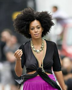 Celebrity look with #afro #naturalhairstyle Loved By NenoNatural!