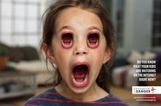 Terrifying Ads Replace Children's Eyes With Creepy, Screaming Mouths - DesignTAXI.com