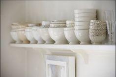 pretty white dishes #dishes