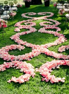 Romantic wedding aisle decoration