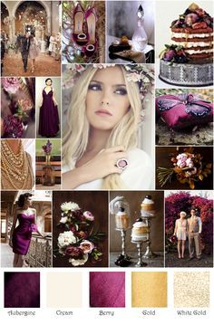 FOR The Event that Shall Not Be Named - Jamie - aubergine champagne color palette - Google Search