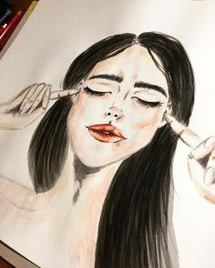 Sieh dir dieses Instagram-Foto von @annikaangeliqua an • Gefällt 33 Mal Art by annikaangeliqua girl aquarelle watercolor
