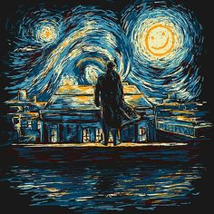 'Starry Fall (Sherlock)' by Starry Night Wallpaper, Art Painting, Starry Night, Amazing Art, Painting, Starry, Art, Pictures, Starry Night Van Gogh
