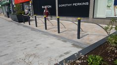 Project News: Town Centre Upgrade, Burnley, Lancashire - Hartecast Bicycle Stand, Burnley, Centre, Sidewalk, Projects, Log Projects, Blue Prints, Crutch, Side Walkway