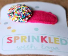 Real sprinkles on the hair clip