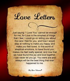 The best love letter for him