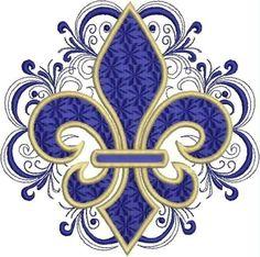 Diseño de bordado de encaje Fleru de Lis por DrusDesigns en Etsy                                                                                                                                                     Más