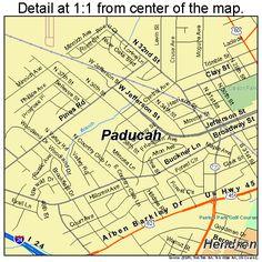Paducah Kentucky Floodwall Murals Paducah Kentucky Flickr - Paducah ky map