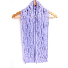 Hand knit lace scarf lace pattern, lilac, lavender, scarf, wrap,... ($7.50) ❤ liked on Polyvore featuring jewelry, lace jewelry, charm jewelry, travel charms, lavender jewelry and leaf jewelry