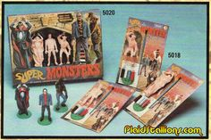 Plaid Stallions : Rambling and Reflections on '70s pop culture: Super Monsters paint kits