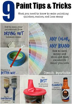 9 Paint Tips & Tricks - What you need to know to make painting quicker, easier, and less messy!