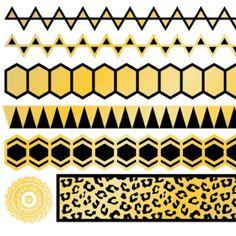 Metallic Tattoo sheet MetallicTat Gold and black temporary tattoo sheet MetallicTat Accessories