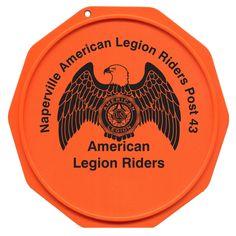 The Original Custom Imprinted Motorcycle Coaster® American Legion Riders, Green Knight, American Legions, Motorcycle Clubs, Military Discounts, Coasters, Printed, Coaster