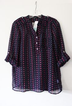 Great blouse.  Has all my favorite colors!