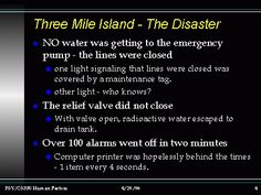 Three Mile Island - The Disaster Too Close For Comfort, Nuclear Disasters, Relief Valve, Nuclear Power, Third, Island, Google Search, Islands, Nuclear Energy
