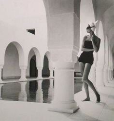 vintage black and white photo - Natalie in Hammamet 1950.jpg