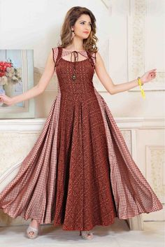 Pin by albeli laila on dress patterns vestidos, vestidos elegantes, vestido Kurti Neck Designs, Dress Neck Designs, Stylish Dress Designs, Kurta Designs Women, Kurti Designs Party Wear, Designs For Dresses, Stylish Dresses, Stylish Kurtis Design, Long Casual Dresses