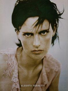 Stella Tennant photographed by Paolo Roversi - Alberta Ferretti Ad Campaign