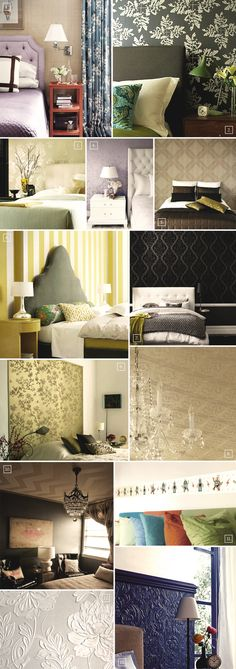 Wallpaper ideas and designs for the bedroom..
