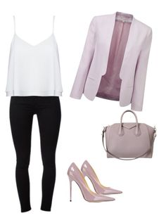"""Casual outfit"" by szabo-dominika on Polyvore featuring Frame Denim, Jimmy Choo, French Connection, Alice + Olivia and Givenchy"