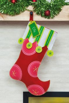 Super Cute Felt Christmas Stocking