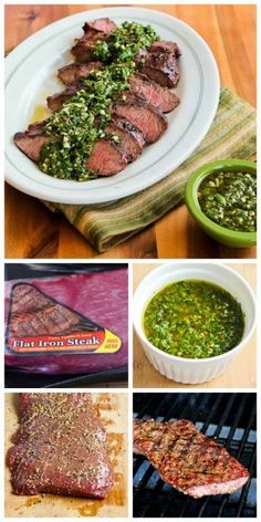 Have you ever tried Flat Iron Steak? It's inexpensive compared to most types of steak, and this Grilled Flat Iron Steak Recipe with Chimichurri Sauce is amazing!