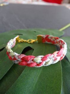 Bracelet braided 4 branches Liberty London Besty Strawberry