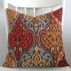 Decorative pillow cover  Throw pillow  Ikat by chicdecorpillows, $45.00