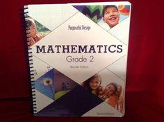 ACSI Purposeful Design Math Gr. 2 Teacher Ed. w. CD, 2nd Ed., Homeschool School #TeacherEdition