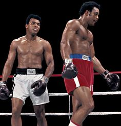 muhammad ali howard cosell | Muhammad Ali and George Foreman