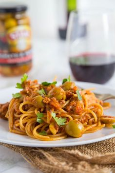 Spanish Spaghetti with Olives #STARFineFoods