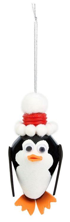 Nicole™ Crafts Penguin Bulb Ornament #ornaments #craft #christmas